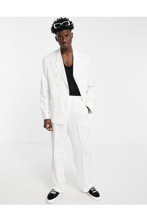 ASOS Wide leg drape suit trousers in