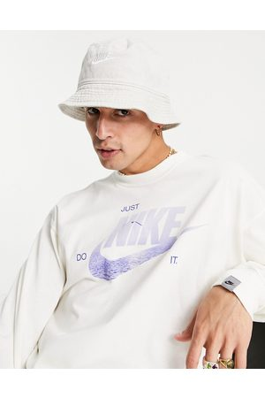 Nike Washed bucket hat in sand-Neutral