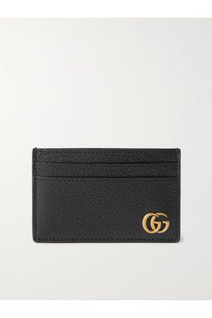Gucci Men Wallets - GG Marmont Full-Grain Leather Cardholder