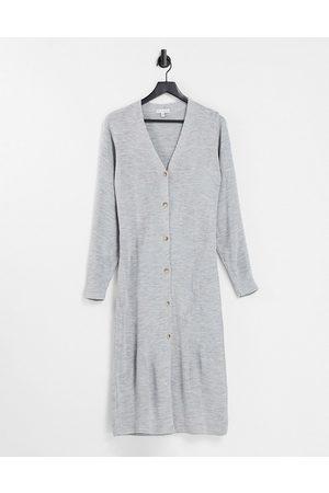 Pretty Lavish Peony longline button knit cardigan dress in