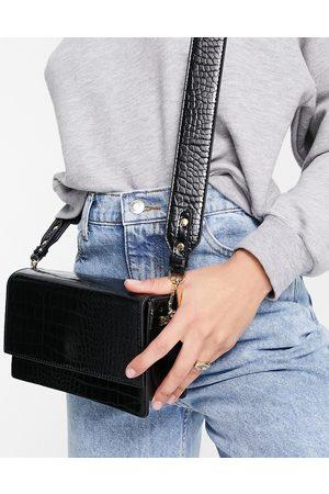 ASOS Women Shoulder Bags - Elongated crossbody bag in croc