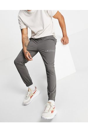 ASOS Skinny ankle grazer trousers with city print