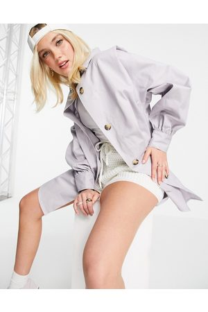 ASOS Women Jackets - Oversized cotton shacket in lilac