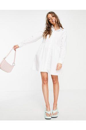 ASOS Women Casual Dresses - Cotton mini smock shirt dress in