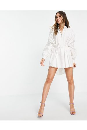 In The Style Women Casual Dresses - X Lorna Luxe exaggerated cape sleeve shirt dress in