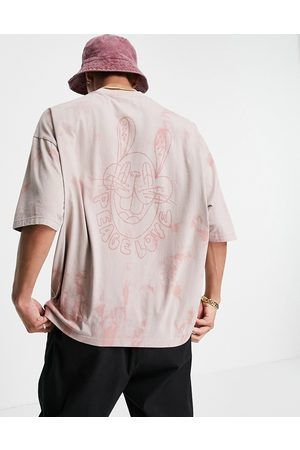 ASOS Men T-shirts - Oversized t-shirt in tie-dye with back print