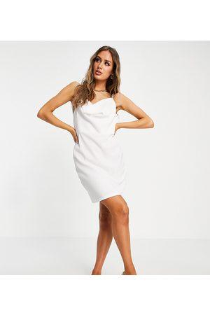 Catch Women Beach Dresses - Rib cowl neck mini beach dress in