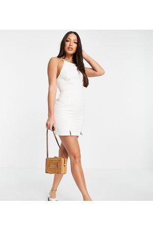 ASOS Women Casual Dresses - ASOS DESIGN Tall soft denim halterneck slip dress in