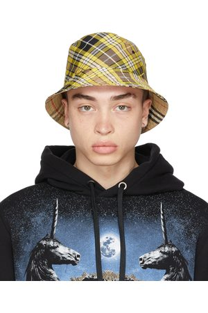 Burberry Reversible Yellow Check Bucket Hat