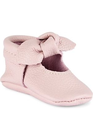 Freshly Picked Baby Girl's Knotted Bow Mini Sole Moccasins