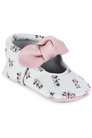 Freshly Picked Girls Loafers - Baby Girl's All About Minnie Knotted Bow Mini Sole Moccasins