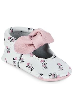 Freshly Picked Girls Loafers - Baby Girl's All About Minnie Knotted Bow Moccasins
