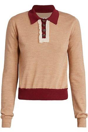 Maison Margiela Décortiqué Wool-Blend Polo Sweater