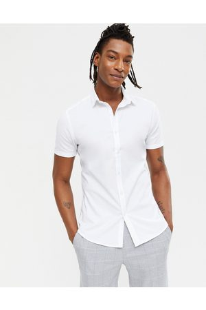 New Look Short sleeve muscle fit oxford in