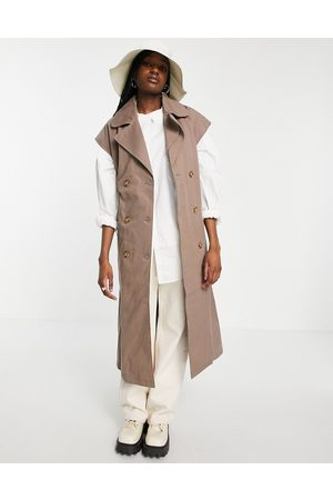 Object Organic cotton sleeveless trench coat in