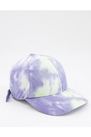 ASOS Baseball cap in washed blue tie dye