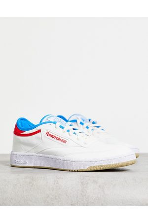 Reebok Classics Club C Grow trainers in off with red tab