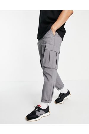 Topman Relaxed cargo track pant trousers in