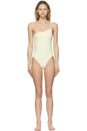 BONDI BORN Off-White Sibella One-Piece Swimsuit