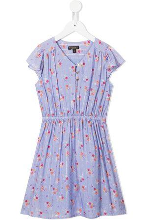 Velveteen Julieta floral-print dress