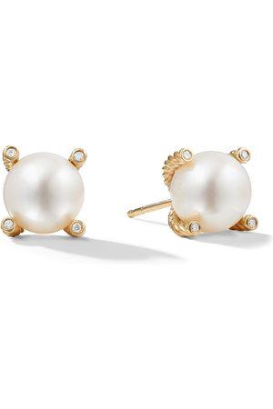 David Yurman Women Earrings - 18kt yellow gold Solari pearl and diamond stud earrings