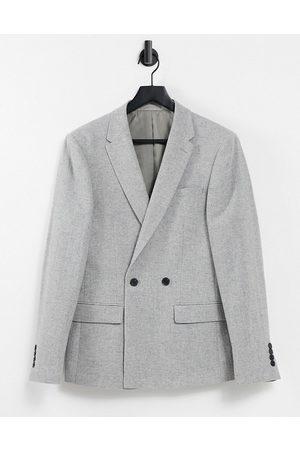 River Island Men Blazers - Wool suit jacket in herringbone