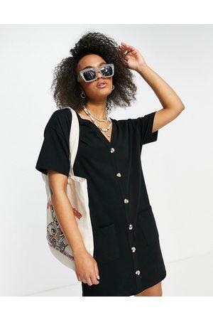 ASOS Button through t-shirt dress in