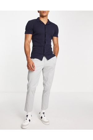 ASOS Cigarette chinos with pleats in light
