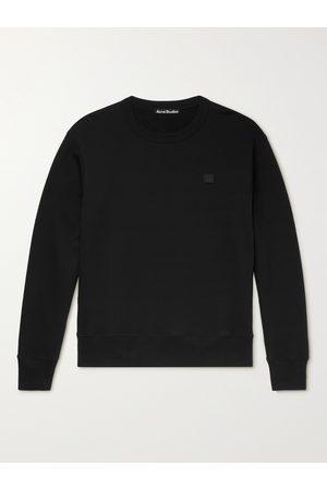 Acne Studios Men Sweatshirts - Logo-Appliquéd Loopback Organic Cotton-Jersey Sweatshirt