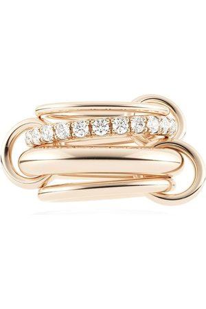 SPINELLI KILCOLLIN Women Rings - 18kt rose gold Four Link Luna Rose diamond ring