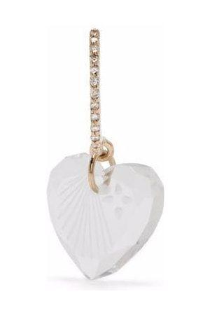 Pascale Monvoisin 9kt yellow Gabin N°1 diamond heart drop earring