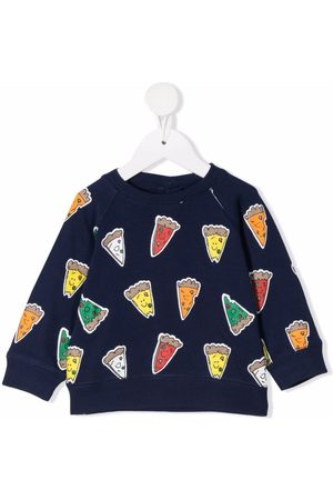 Stella McCartney Baby Sweatshirts - Pizza-print sweatshirt