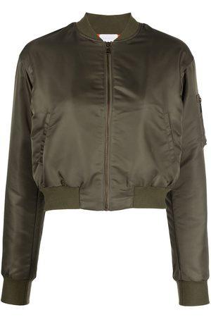 JOHN ELLIOTT Women Bomber Jackets - Hunter cropped bomber jacket
