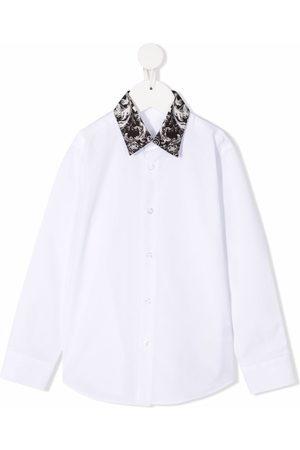 Philipp Plein New Baroque contrast-collar shirt