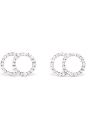 Courbet 18kt white gold Celeste large pavé diamond set stud earrings