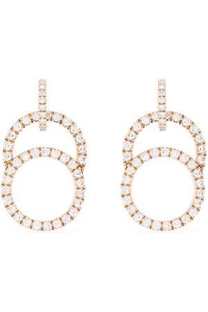 Courbet 18kt rose gold Celeste diamond pavé hanging earrings