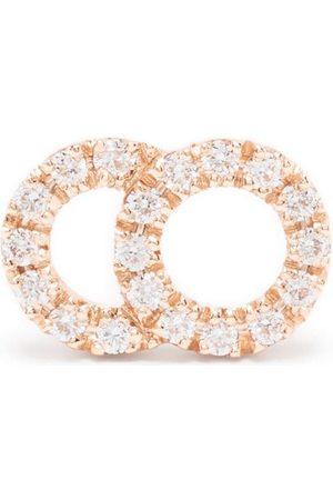 Courbet 18kt rose gold Celeste small diamond pavé mono stud earring