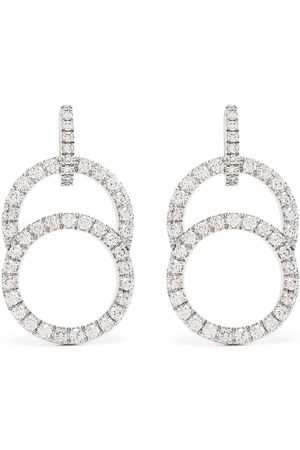Courbet 18kt white gold diamond pavé set Celeste earrings