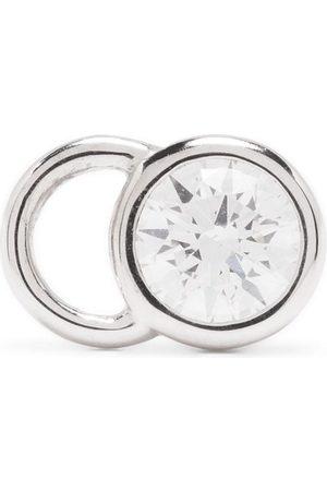 Courbet 18kt white gold CO mono diamond stud earring