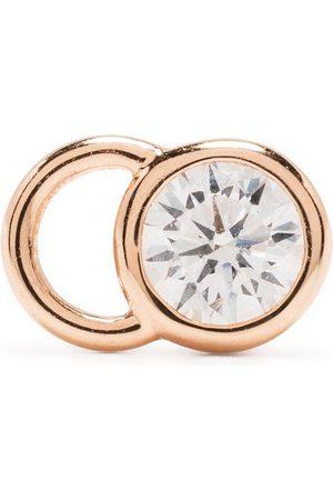 Courbet 18kt rose gold CO mono diamond stud earring