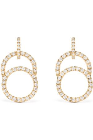 Courbet 18kt yellow diamond pavé set Celeste earrings