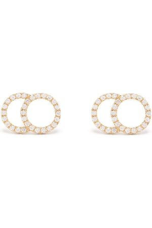 Courbet Women Earrings - 18kt yellow Celeste large pavé set diamond stud earrings