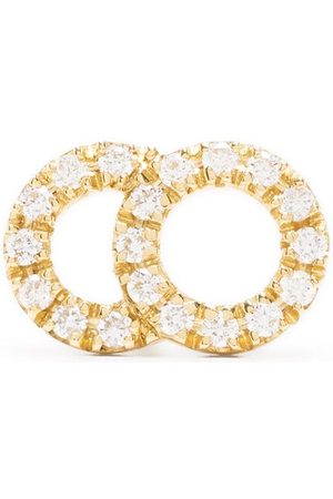 Courbet Women Earrings - 18kt yellow Celeste small pavé diamond set mono stud earring