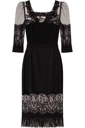 Dolce & Gabbana Women Party Dresses - Lace-panel square-neck dress