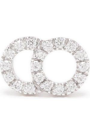 Courbet Women Earrings - 18kt white gold Celeste small diamond pavé set mono stud earring
