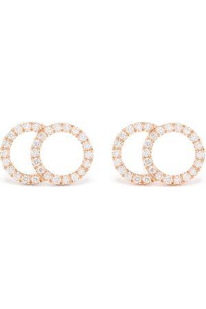 Courbet Women Earrings - 18kt rose gold Celeste large pavé diamond set studs earrings