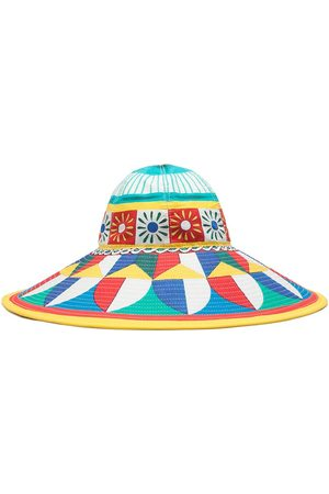 Dolce & Gabbana Geometric-print sun hat