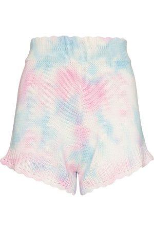 LOVESHACKFANCY Women Shorts - Karissa knitted tie-dye shorts