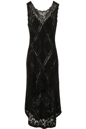 Twin-Set Diamond-knit maxi dress