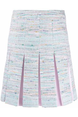 Karl Lagerfeld Women Pleated Skirts - Pleated tweed skirt